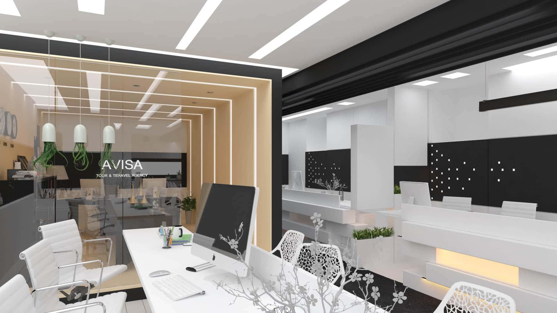طراحی داخلی اداری تجاری
