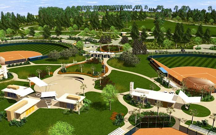 طراحی پارک منظم