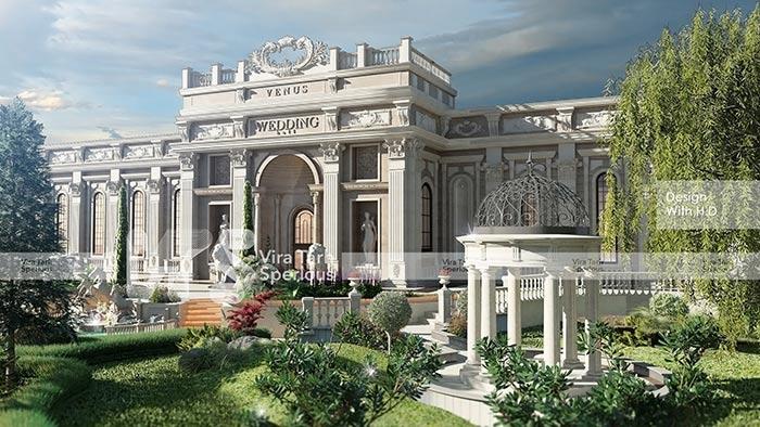 طراحی باغ تالار عروسی