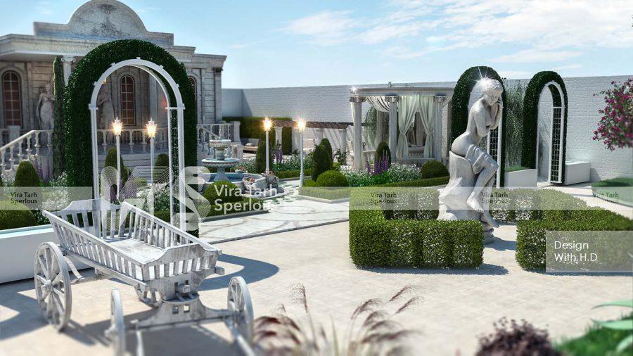طراحی باغ آتلیه عکاسی