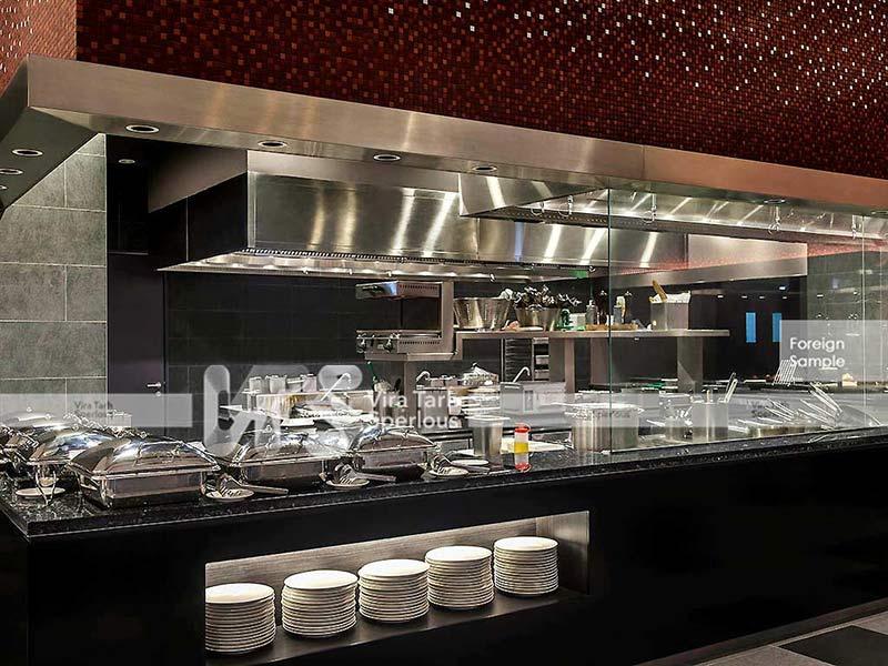 طراحی آشپرخانه تالار رستوران