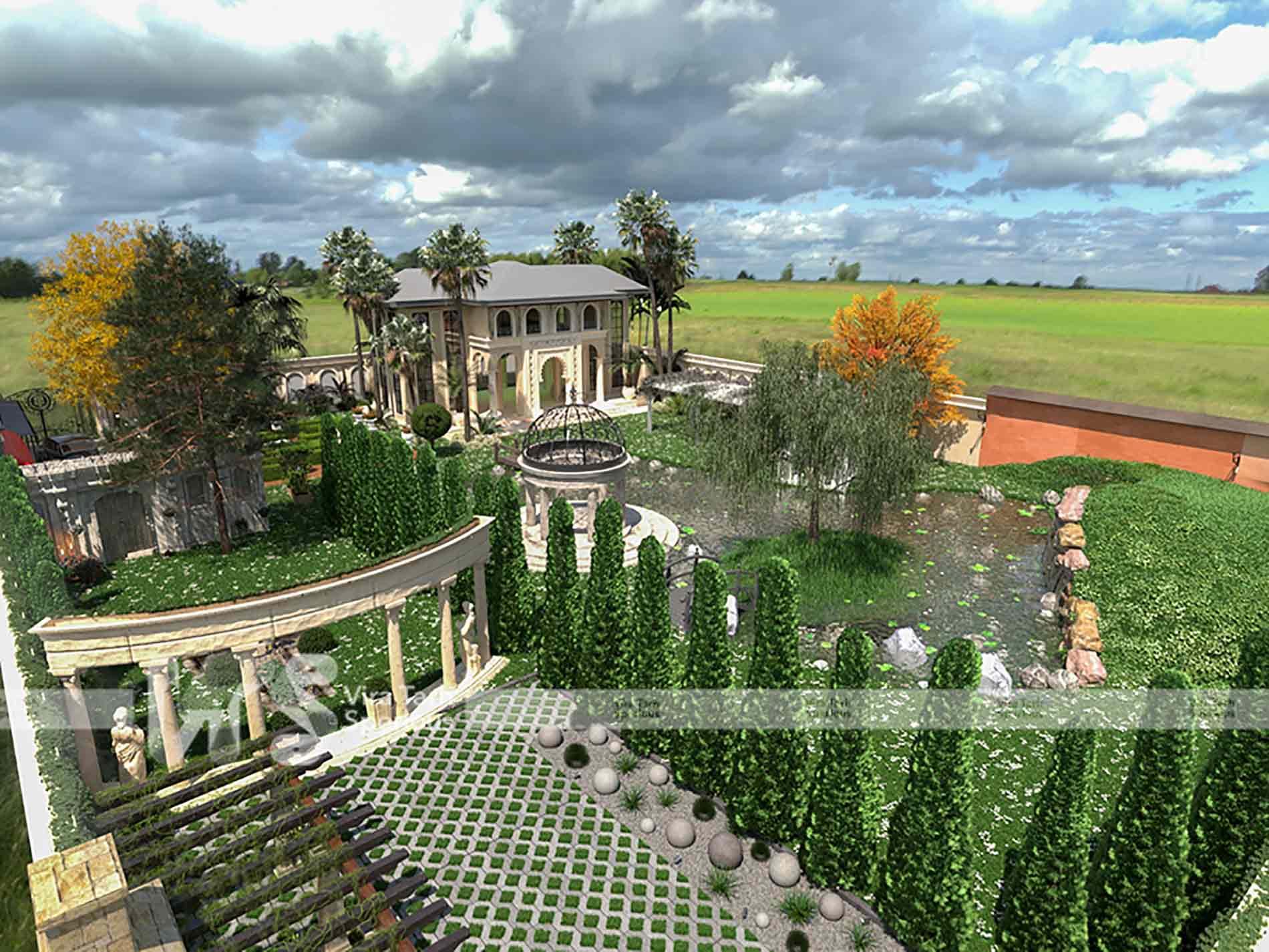 طراحی باغ آتلیه در اسلامشهر