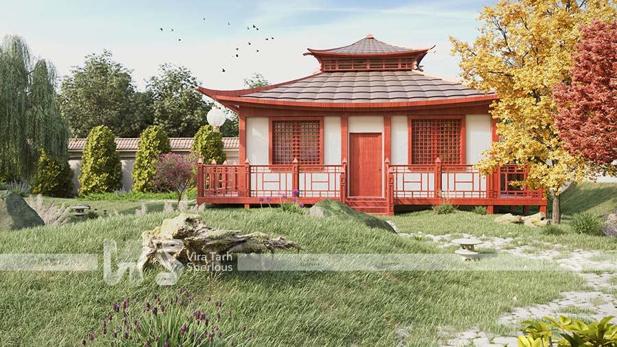 طراحی باغ آتلیه در باغستان
